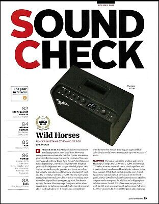 Fender Mustang GT 40 & 200 Amp Two-page Guitar Amplifier Review Article • 2.90£