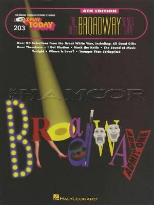 The Best Broadway Songs Ever E-Z Play Today Keyboard Sheet Music Book Musicals