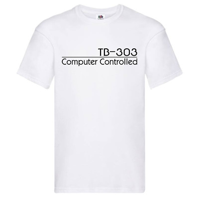 Roland TB-303 Computer Controlled Personalised Custom T-Shirt - White / L • 9.99£