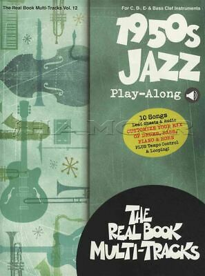 1950s Jazz Play-Along Real Sheet Music Book/Audio C Bb Eb Bass Clef Instruments