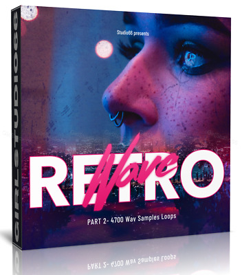 Retro Wave Style Pack 2 Wav Loops Logic Pro Bitwig Cubase Acid FL Studio Ableton • 3.20£