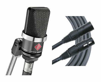 Neumann TLM102 Black Cardioid Condenser Microphone + Mogami Cable • 505.79£