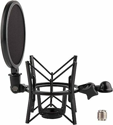 LYRCRO Microphone Shock Mount With Integrated Pop Shield For Rode Mics Like K2, • 32.54£