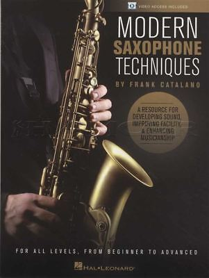 Modern Saxophone Techniques Sheet Music Book with Audio by Frank Catalano