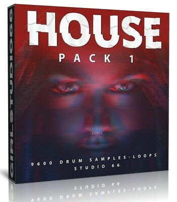 House and Tech Drums Pack One 9600 WAV Samples FL Studio Logic Pro Cubase Reason