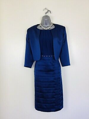 Izabella By Ella Boo Size 14 16 Dark Blue  Mother Of The Bride  Groom Outfit • 119£