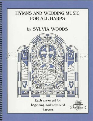 Hymns and Wedding Music for All Harps Music Book Beginner Advanced Sylvia Woods