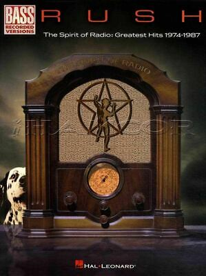Rush The Spirit of the Radio for Bass Guitar TAB & Music Book SAME DAY DISPATCH