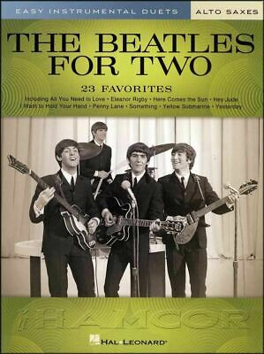 The Beatles for Two Alto Saxes Sheet Music Book Duet Let It Be SAME DAY DISPATCH