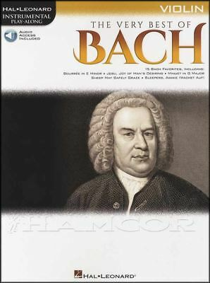 The Very Best of Bach Violin Instrumental Play-Along Classical Music Book/Audio