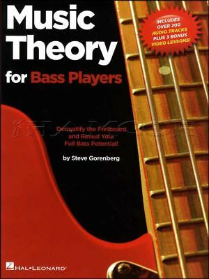 Music Theory for Bass Players Guitar TAB Music Book/Audio/Video Fretboard