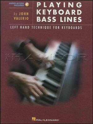 Playing Keyboard Bass Lines Left Hand Technique Music Book/Audio