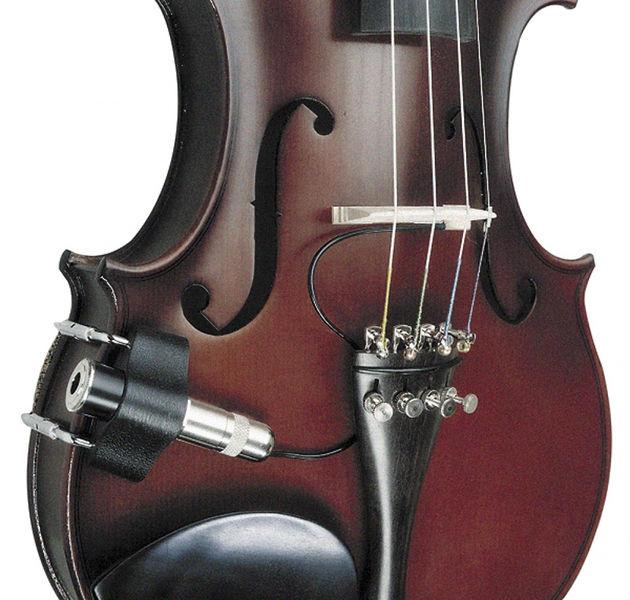 "K/&K Sound Violinissimo PRO Violin//Viola 3 Sensor Pickup w//Side-Mounted 1//4/"" Jack"