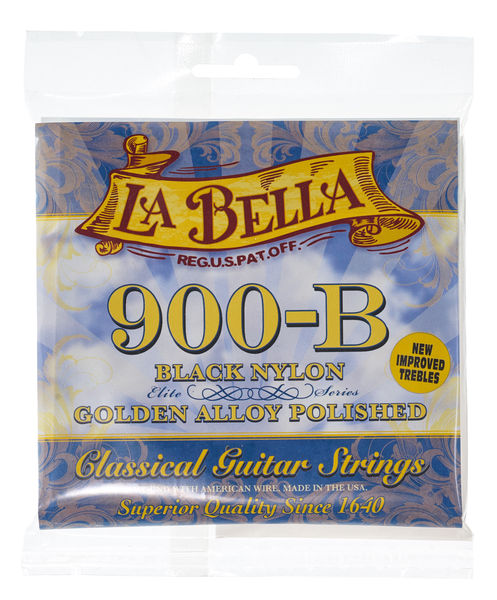 La Bella 900B ELITE Golden Superior Nylon schwarz medium Classic Guitar Strings