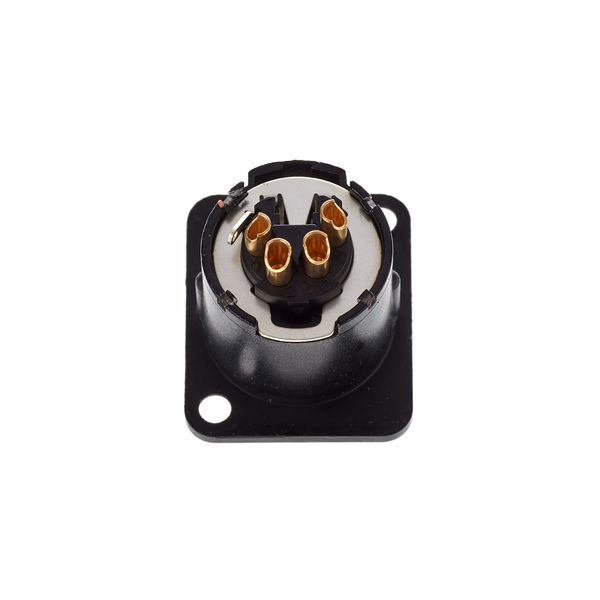 4pole XLR NEUTRIK-nc4fd-lx-b socket Nero