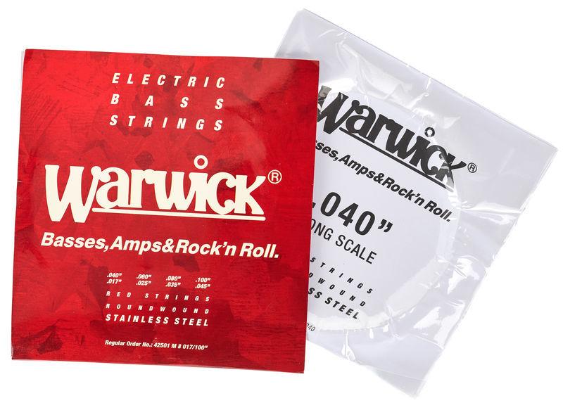 WARWICK RED Strings Stainless Steel Medium 8-String Bass .017-.100